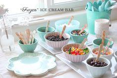 """Cute idea for a """"Frozen"""" party"""