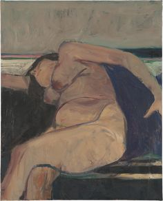 Richard Diebenkorn – Reclining Nude - Pink Stripe, 1962 | The Metropolitan Museum of Art, New York