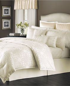 Martha Collection Savannah Scroll Ivory 22 Pc Comforter Sets Only At Macy S Bed In A Bag Bath