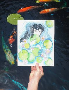 """Check out this @Behance project: """"Waterlilies"""" https://www.behance.net/gallery/40794207/Waterlilies"""