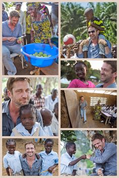 These photos are really putting a smile on my face today. He's got money and fame but he also has heart. Love you Gerry!