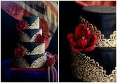 Gold Wedding Cakes wedding cake gorgeous, but i don't want to eat anything black - Wedding Cake Fresh Flowers, Black Wedding Cakes, Cool Wedding Cakes, Mariachi Wedding, Charro Wedding, Charro Quinceanera Dresses, Quinceanera Cakes, Quinceanera Decorations, Our Wedding