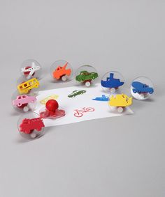 Take a look at this Transportation Stamp Set by Ready 2 Learn on #zulily today! $10 !!
