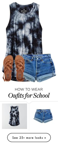 """When your grounded for 2 weeks"" by ponyboysgirlfriend on Polyvore featuring American Eagle Outfitters, Levi's and Billabong"