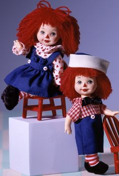 Kelly® Doll and Tommy™ Doll are absolutely adorable as the beloved childhood favorites, Raggedy Ann and Andy.  -  Barbie Collector Edition