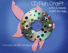 CD Fish Craft   LearnCreateLove.com
