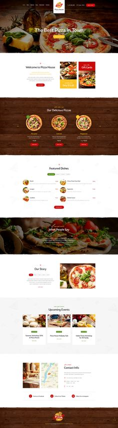 Pizza House is what you really need to make an impressive online presentation of your restaurant, cafe, pizzeria, bistro, bar, bakery, brewery, etc...
