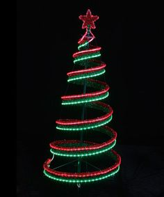 4ft outdoor red green pre lit pop up spiral christmas tree led 4 spiral led christmas tree zulilyfinds aloadofball Choice Image