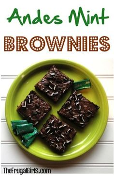If you& craving a tasty brownie dessert in a flash, you& love these sweet little treats! These Andes Mint Brownies are out of control delicious! Andes Mint Brownies Recipe, Andes Mint Cookies, Homemade Brownies, Brownie Recipes, Cookie Recipes, Dessert Recipes, Delicious Desserts, Yummy Food, Dessert Healthy