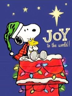 Christmas - Snoopy & Woodstock - Joy To The World❗️ Peanuts Christmas, Noel Christmas, Christmas Countdown, Christmas Movies, Christmas Greetings, Christmas Humor, Snoopy Images, Snoopy Pictures, Funny Christmas Pictures