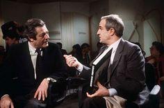 Marcello Mastroianni e Francois Truffaut sur le plateau de l'émission Apostrophes en 1984