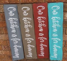 Our kitchen is for dancing signs Christmas Lyrics, Christmas Signs, Mothers Day Signs, Mother Day Gifts, 5 Year Anniversary Gift, Gift For Music Lover, Kitchen Signs, Bridal Shower Gifts, Hostess Gifts