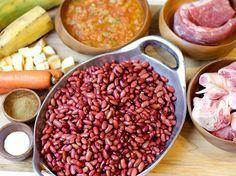 Fríjoles con Pezuña - AntojandoAndo Pasta Integral, Colombian Food, Colombian Recipes, Frijoles, Beans, Vegetables, Alice, Foods, Vestidos