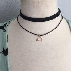 Free People Jewelry - Double gold triangle choker 3