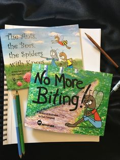 'The Ants, the Bees, the Spiders with Knees' & 'No More Biting!'  Available on Etsy
