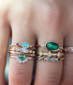 The brand-new Opal Ruby Trio stack #loveaudryrose
