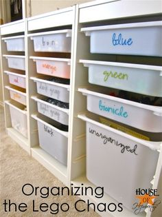 Lego Organization!  Where to purchase this Lego System and a tutorial on how to make the lego labels. #lego #ikea #silhouette #cameo #boy www.houseofhepworths.com