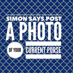Simon Says: current purse.  #ThirtyOne #ThirtyOneGifts #31Party… Thirty One Games, Thirty One Party, My Thirty One, Younique Party Games, Simon Says Game, Jamberry Games, Thirty One Purses, 31 Party, Thirty One Facebook