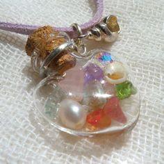 beach glass pendant necklace