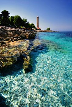 (Europe) - Check out this amazing beach and lighthouse on Dugi Otok in Croatia    http://dennisharper.lnf.com/
