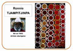Ronnie Tjampitjinpa - Portrait d'artiste plein d'affiches très simples pour différents artistes