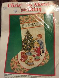 Christmas Morning Stocking Counted Cross Stitch Kit Dimensions 8429 Rare