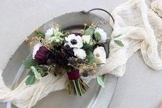 Your place to buy and sell all things handmade Peony Bouquet Wedding, Bridal Flowers, Dried Flowers, Silk Flowers, Merlot Wedding, Queen Annes Lace, Wedding Keepsakes, Garden Styles, Eggplant
