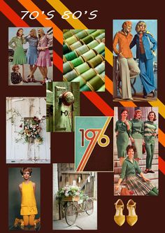 70's 80's #trend #board #fashion #tekdesen #design #studio #70s #80s #vintage #art #artwork #designer #textile #color #textildesign #print #fall #brown #yellow #shoes #bike #green #khaki #woman #1976 #2017 #trend #flowers #skirt #pants