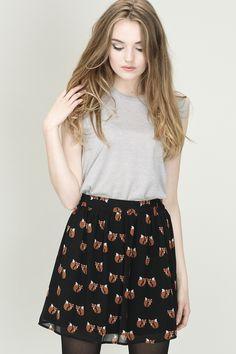 Foxy Skirt - Black