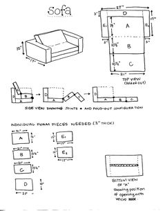 DIY Foam Sofa (for kids)  From: www.ikatbag.com