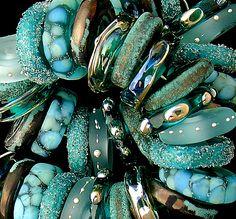 DSG Lampwork Beads OrGaNiC Handmade Glass ~Poseidon's Jewels~ | eBay