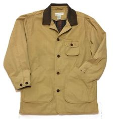 BANANA Republic Field Jacket Barn Coat XS Tan Flannel Lined Leather Collar  #BananaRepublic #FieldJacket