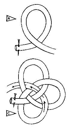 Loop cord as shown. Loop a third time, weaving through other two loops. Keep loops open while working. Ease together, shaping into a ball. Trim the ends and sew them flat to underside of ball. Sewing Hacks, Sewing Tutorials, Sewing Projects, Sewing Patterns, Sewing Tips, Craft Tutorials, Crochet Buttons, Knit Crochet, Sewing Clothes