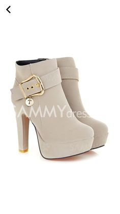 Trendy Chunky Heel and Metallic Buckle Design Women's Suede Boots - womens shoes, popular shoes womens, cheap womens dress shoes Black Ankle Boots, High Heel Boots, Suede Boots, Heeled Boots, Frye Boots, Men's Boots, Fashion Heels, Fashion Boots, Fashion Clothes