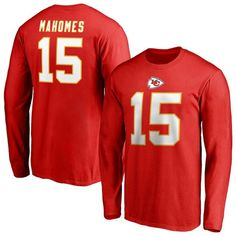 644037e69 Patrick Mahomes Kansas City Chiefs NFL Pro Line by Fanatics Branded Team  Authentic Stack Name   Number Long Sleeve T-Shirt – Red