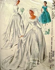 McCalls3536 Bridal gowns elegant