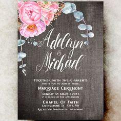 Rustic Wedding invitation printable  Burlap by DivineGiveDigital
