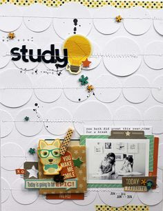 Love se colored circles stitched across page!!! Study by MelBlackburn at @studio_calico