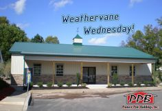 "Weathervane Wednesday!  Dimensions: 40' W x 60' L x 12' H 40' Standard Trusses, 4' on Center, 4/12 Pitch  (1) 48"" Cupola with Louvers, Roof Color: Ivy, Center Color: Light Stone, Base Color: Ivy (1) 40"" Eagle Weathervane  http://pioneerpolebuildings.com/portfolio/project/40-w-x-60-l-x-12-h-id-030-total-cost-contact-us"