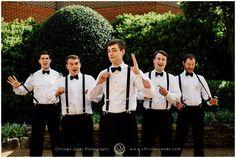 Groom || Groomsmen || Wedding Party || Suspenders || Portrait || Memphis ||Christen Jones Photography