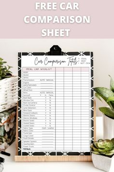 This car comparison sheet helped me decide the best car for me, and helped me save money! Car Checklist, Free Cars, Car Colors, Car Prices, Cruise Control, Roof Rack, Up And Running, Car Manufacturers, Feeling Overwhelmed