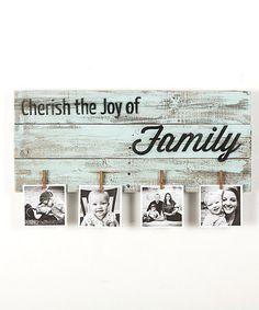 Loving this 'Cherish the Joy of Family' Photo Holder on #zulily! #zulilyfinds
