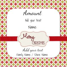 Printable Christmas Gift Certificate Template | Gift card template ...
