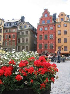 Colorful houses in Stockholm (Sweden). Our tips for 25 fun things to do in… Sweden Places To Visit, Places In Europe, Places Around The World, Cool Places To Visit, Places To Go, Around The Worlds, Voyage Suede, Sweden Travel, Voyage Europe