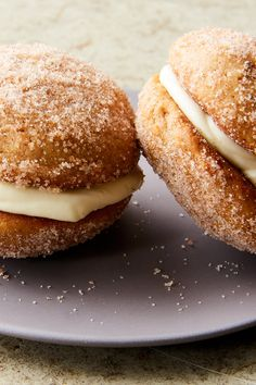 NYT Cooking: apple cider whoopie pies dusted with cinnamon sugar & apple butter cream cheese frosting. Apple Dessert Recipes, Apple Recipes, Desserts, Fall Recipes, Side Recipes, Holiday Recipes, Whoopie Pies, Whoopie Pie Filling, Cannoli