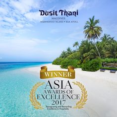 Dusit Thani Maldives is celebrating its first distinguished award of the year having been named Asia's Most Excellent Hotel Resort in the Jetsetter Asia Awards of Excellence 2017. #DusitThaniMV #maldives #award #winner #asiaawardsofexcellence2017 #best #luxury