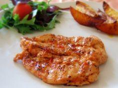 Фото к рецепту: Запеченные куриные грудки со сливочным соусом
