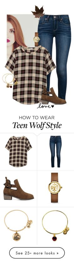 """I thought we would be together forever. And then I saw you with her."" by sydneymellark on Polyvore featuring Paige Denim, Equipment, Tory Burch, Alex and Ani and fallfashion"