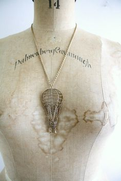 Vintage Hot Air Balloon Necklace . 1970s.