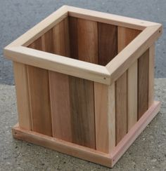 "Our 14"" Square Planter Box Made from Western Red Cedar T&G & 2x2 framing. Come check us out at 445 Conestogo Rd Waterloo, On N2L 4C9 Or www,cedarlandlumber.com"